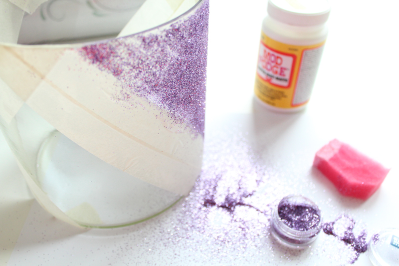 DIY Glitzervase beglitzern