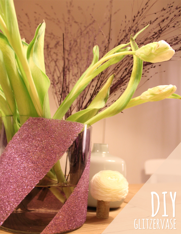 DIY Glitzervase