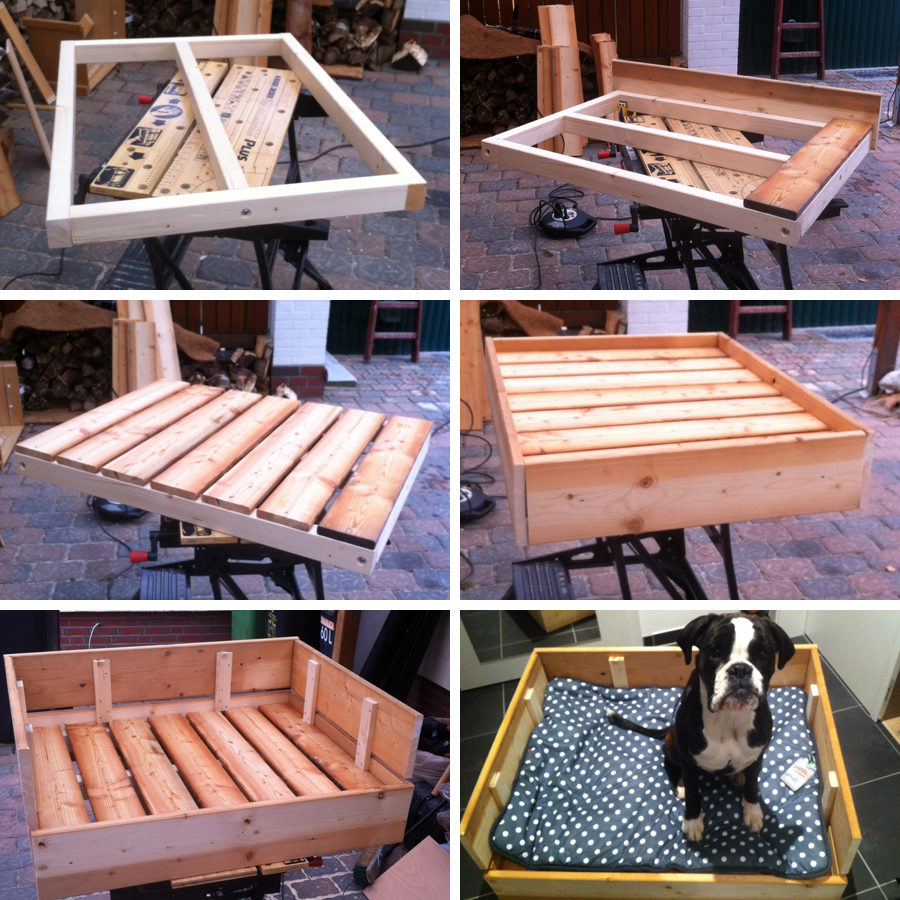 diy freutag hundebett aus holz selber bauen der blog. Black Bedroom Furniture Sets. Home Design Ideas