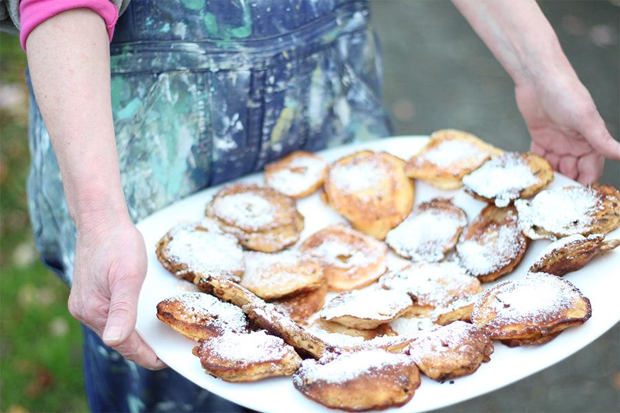 Apfelringe Pfannkuchen
