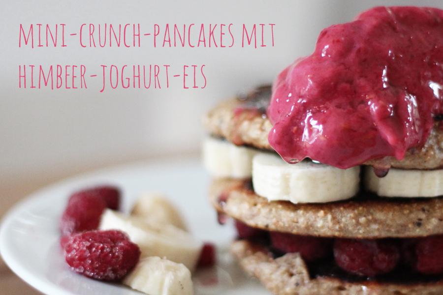 Mini-Crunch-Pancakes-mit-Himbeer-Joghurt-Eis