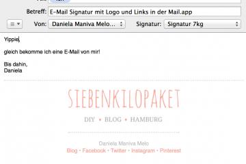 E-Mail-Signatur mit Logo und Social Media in der Mail app
