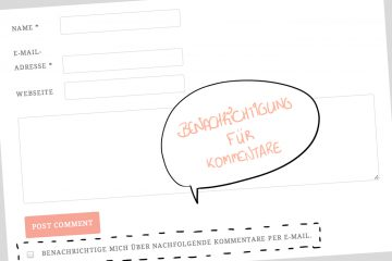 Kommetare per Mail Benachrichtigung Wordpress