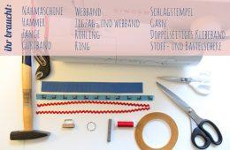 Schlüsselanhänger selber machen und mit Schlagstempel verschönern - die Werkzeuge