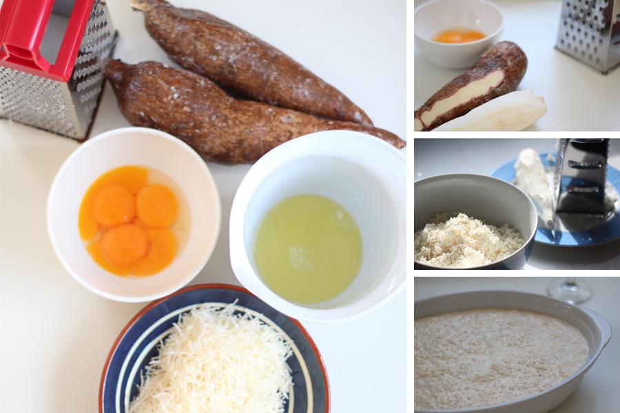 Maniokkuchen aus Brasilien mit Parmesankäse