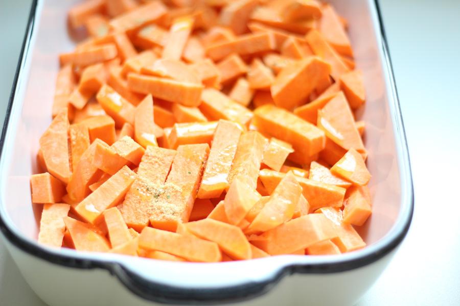 Süßkartoffeln mit Fetakäse