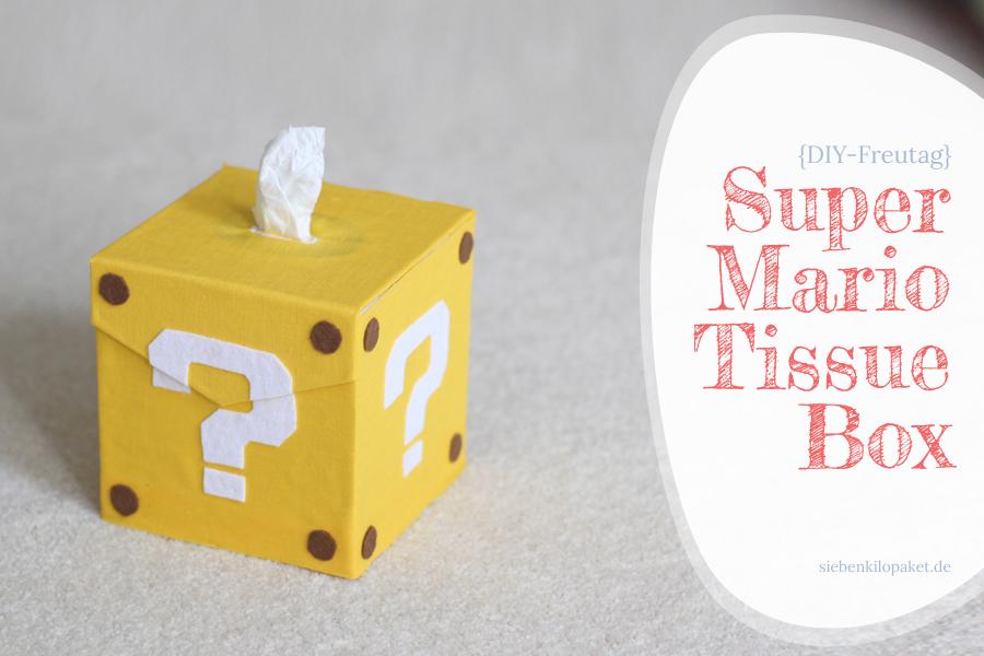 Super Mario tissue box DIY