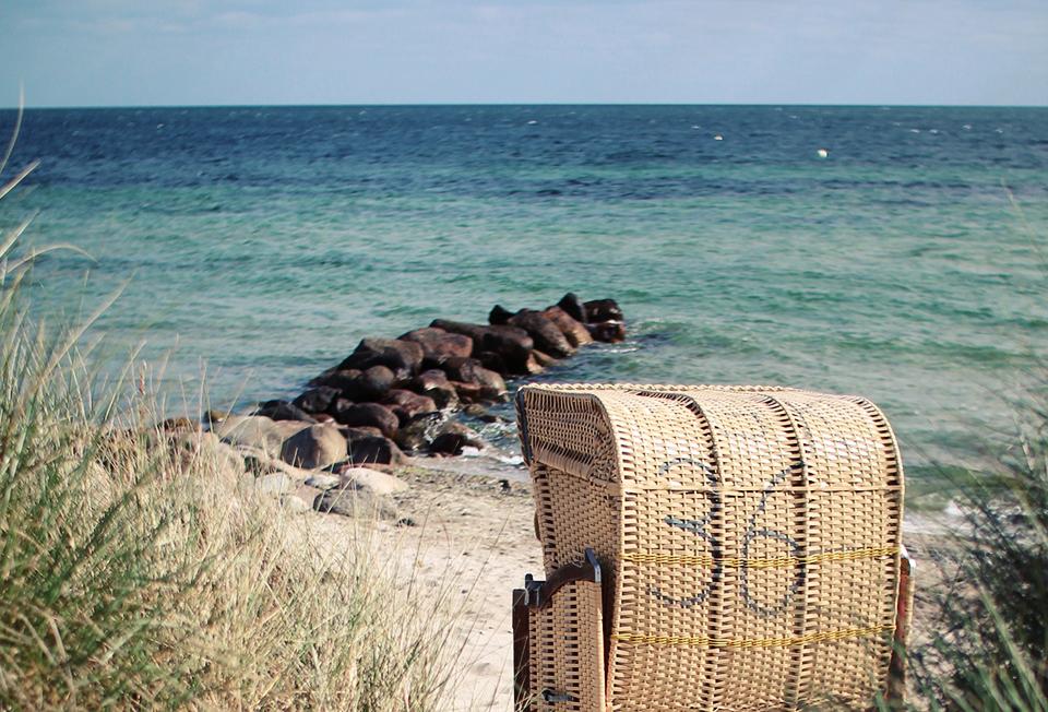 Strandkorb auf Fehmarn