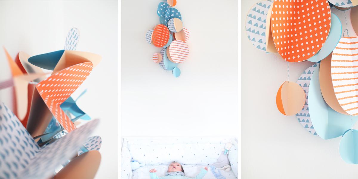 diy freutag mit papier basteln das babyzimmer mit. Black Bedroom Furniture Sets. Home Design Ideas