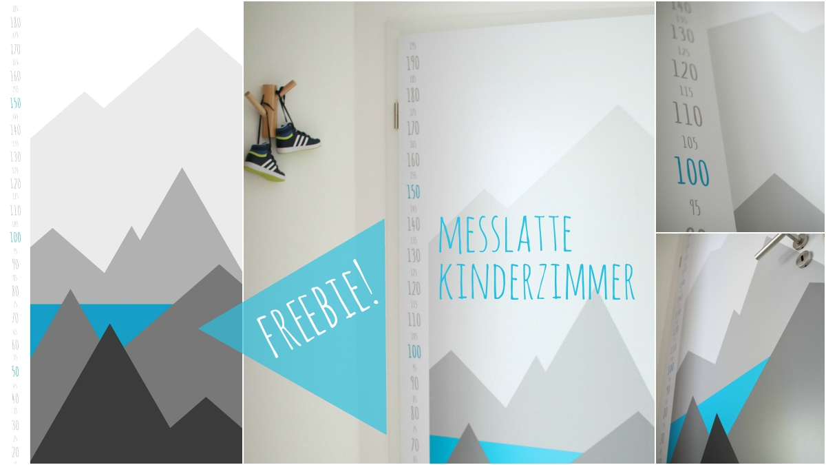 freebie messlatte f r kinder zimmert r mit folie. Black Bedroom Furniture Sets. Home Design Ideas
