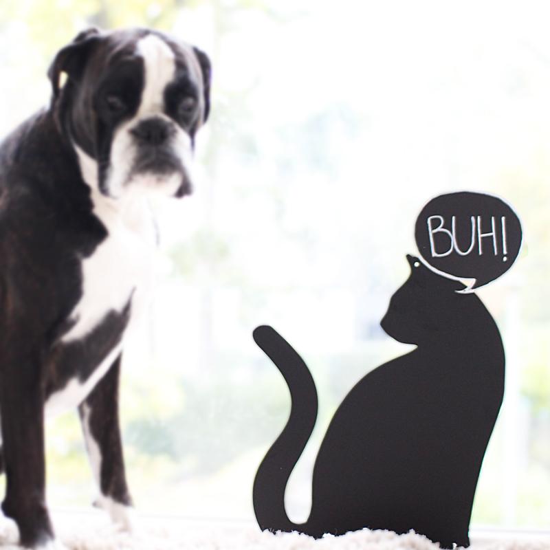 Magnetboard-schwarze-Katze
