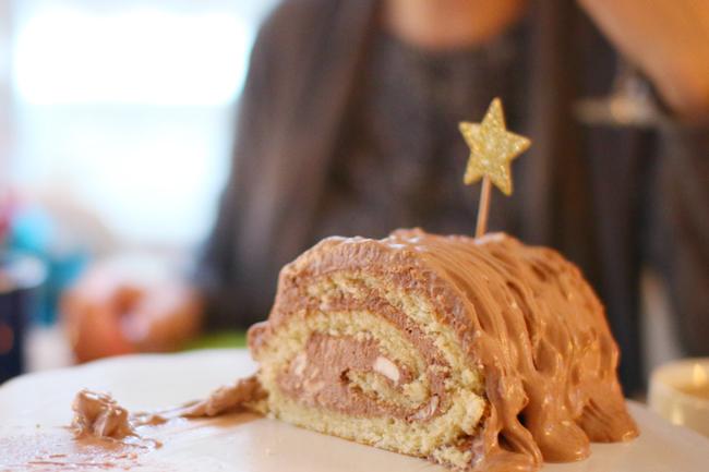 Glutenfreie Biskuitrolle mit Nutella Rezept