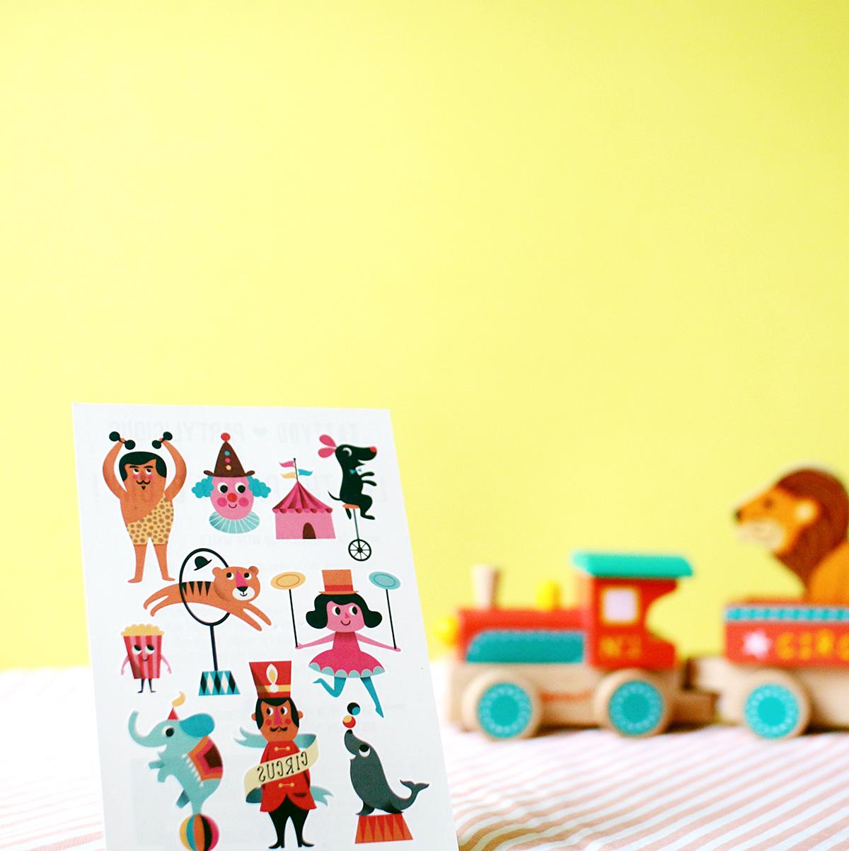 Deko-Ideen-Kinderzimmer-Zirkus-Thema-Motto