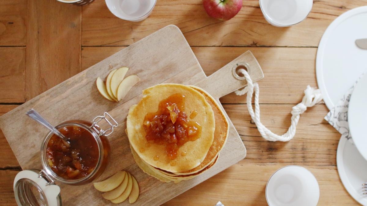 Apfel Pfannkuchen Rezept einfach und schnell