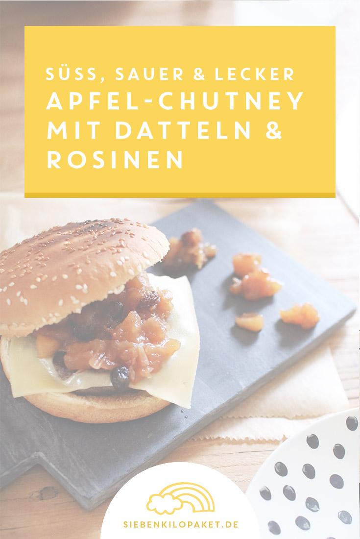 Apfelchutney Rezept mit Datteln und Rosinen - einfach gemacht!
