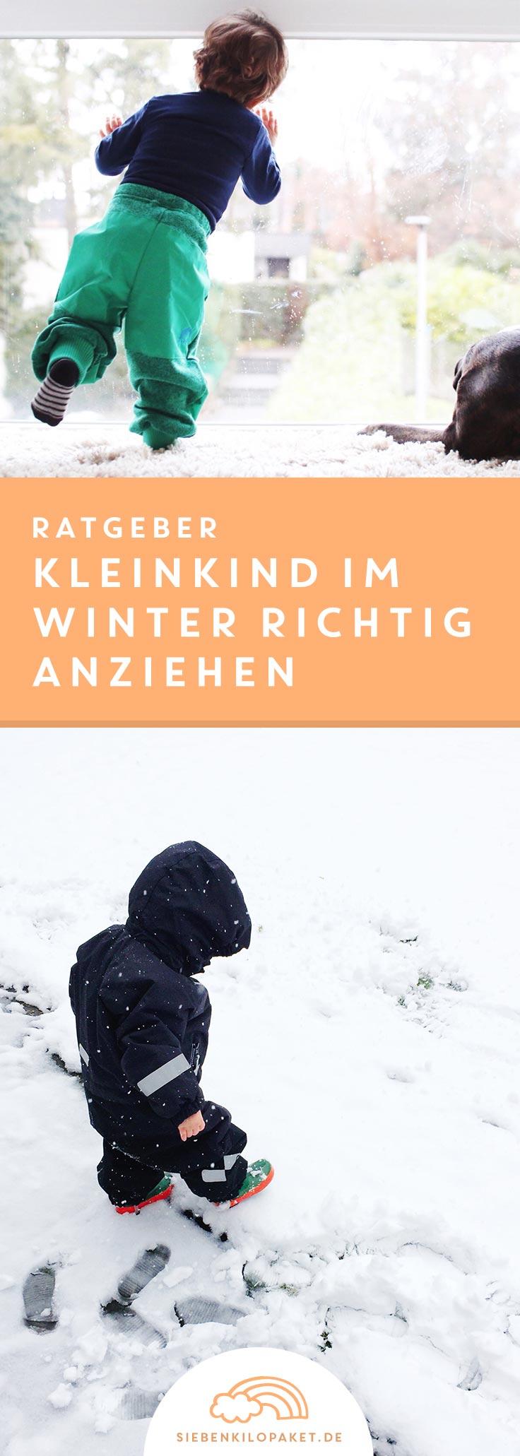 Ratgeber Kleinkind im Winter richtig anziehen