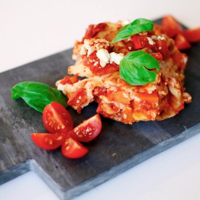 Vegetarische Kürbis Feta Lasagne Kinderrezepte