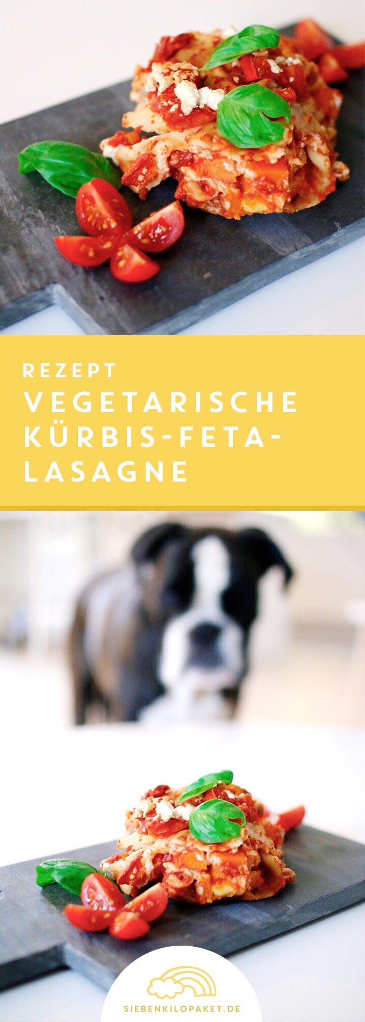 Was koche ich heute? Vegetarische Lasagne mit Kürbis und Feta Rezept