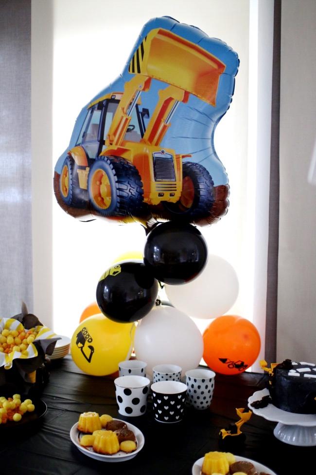 Feiern mit Kindern Baustelle Geburtstag Deko Ideen