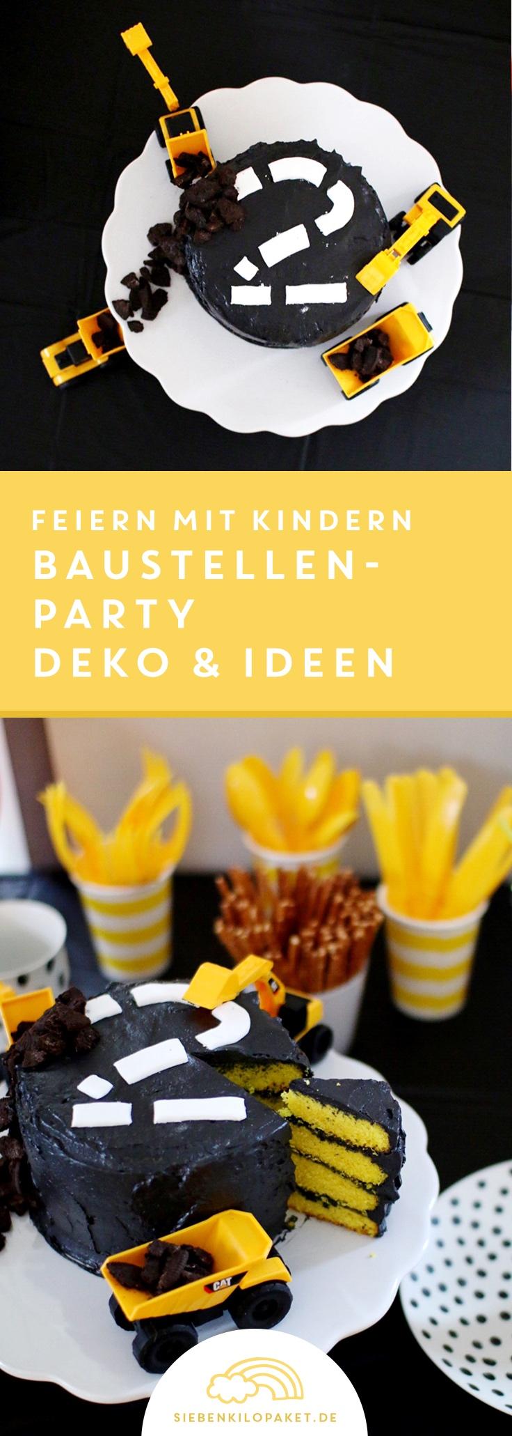 Kindergeburtstag Baustelle Ideen Rezepte Deko