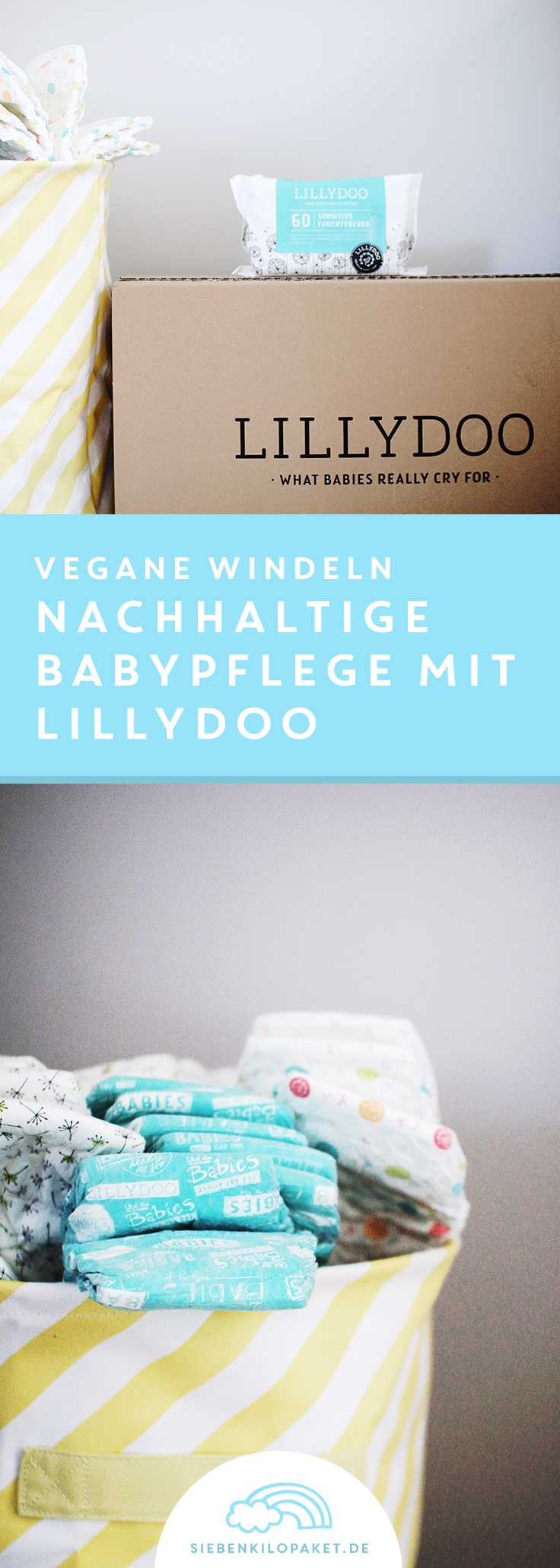 Babyausstattung vegane Windeln und Wickelunterlagen auch für Neugeborene von LILLYDOO