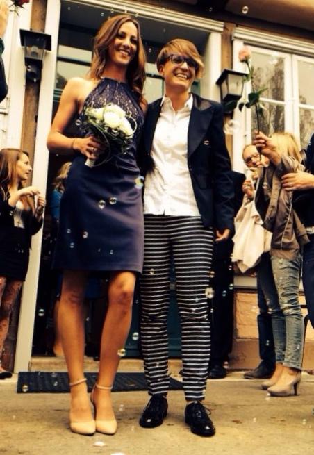 Lesbische Hochzeit Familie Regenbogenfamilie