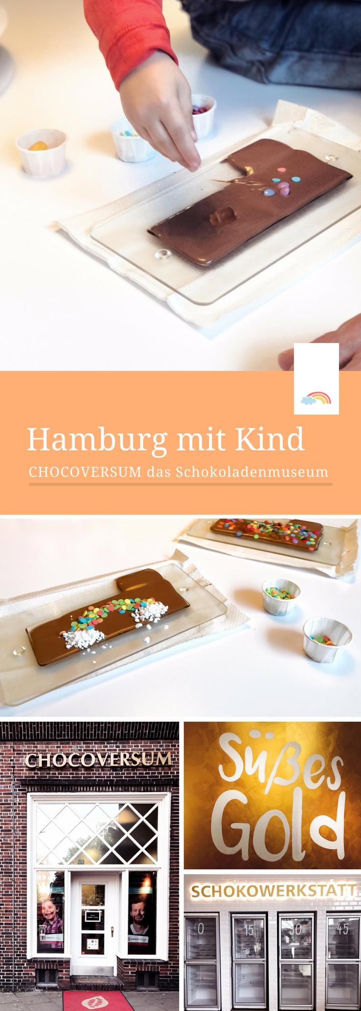 Hamburg mit Kindern - Chocoversum das Schokoladenmuseum ist ein super Ausflugstipp für Hamburg bei Regen mit Kindern. Woher kommt die Schokolade? Wie entsteht sie? Viele Infos und Schokowerkstatt, in der man seine eigene Schokolade selber machen kann