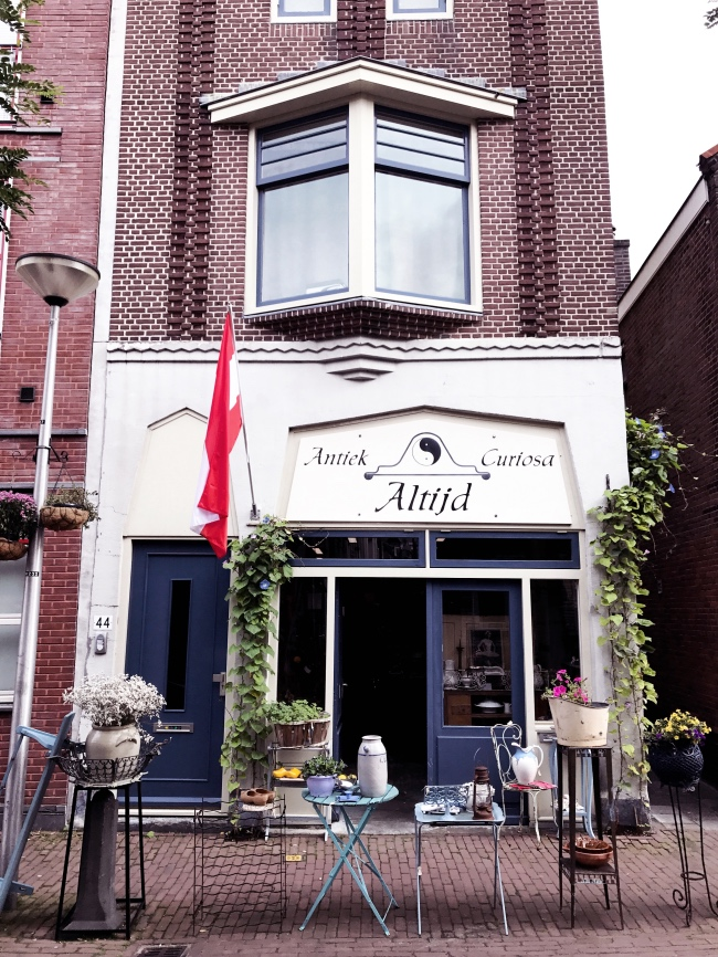 Antiquität in Gouda Stadt Holland Ausflug