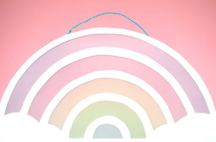 Laterne basteln DIY Regenbogen Martinszug