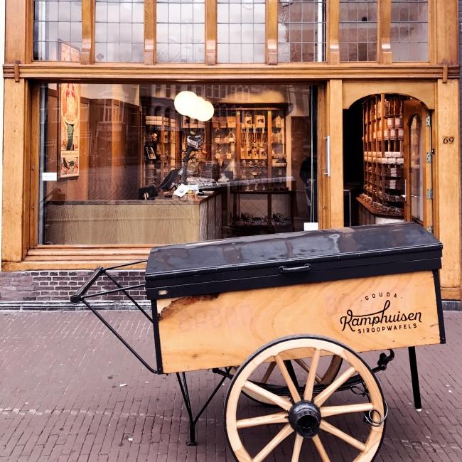Siroopwafel typisch Holland Gouda für Kinder Familienausflug