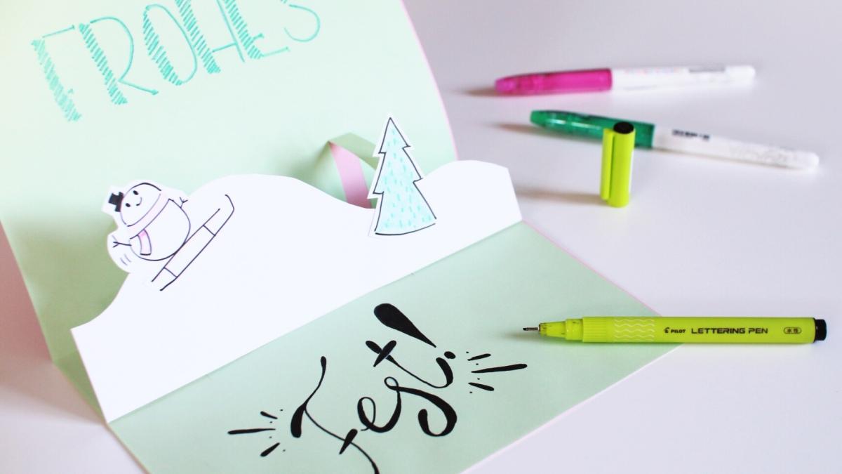 pop up karte basteln DIY Anleitung: Pop Up Karte basteln zu Weihnachten   mit Kindern