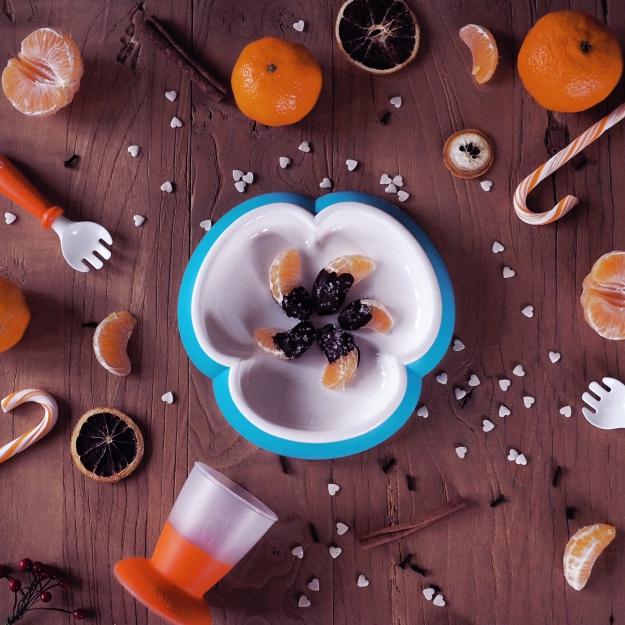 Fingerfood Weihnachten mit Kindern Mandarinen Schokolade