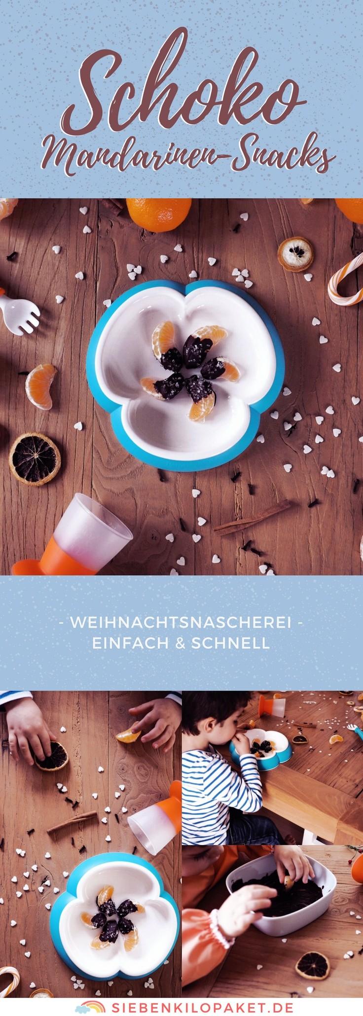 Schoko-Mandarinen-Snack: eine tolle Idee für Weihnachten mit Kindern - schnell und einfach gemacht #gemütlich #mandarine #schokolade #rezept