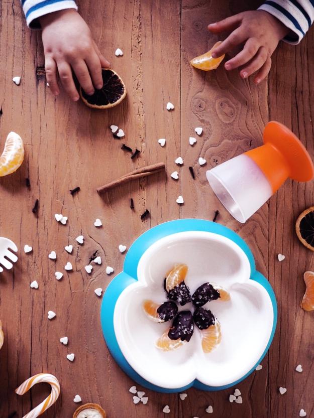 Weihnachten mit Kindern Snack Mandarinen Schokolade - Der Blog für ...