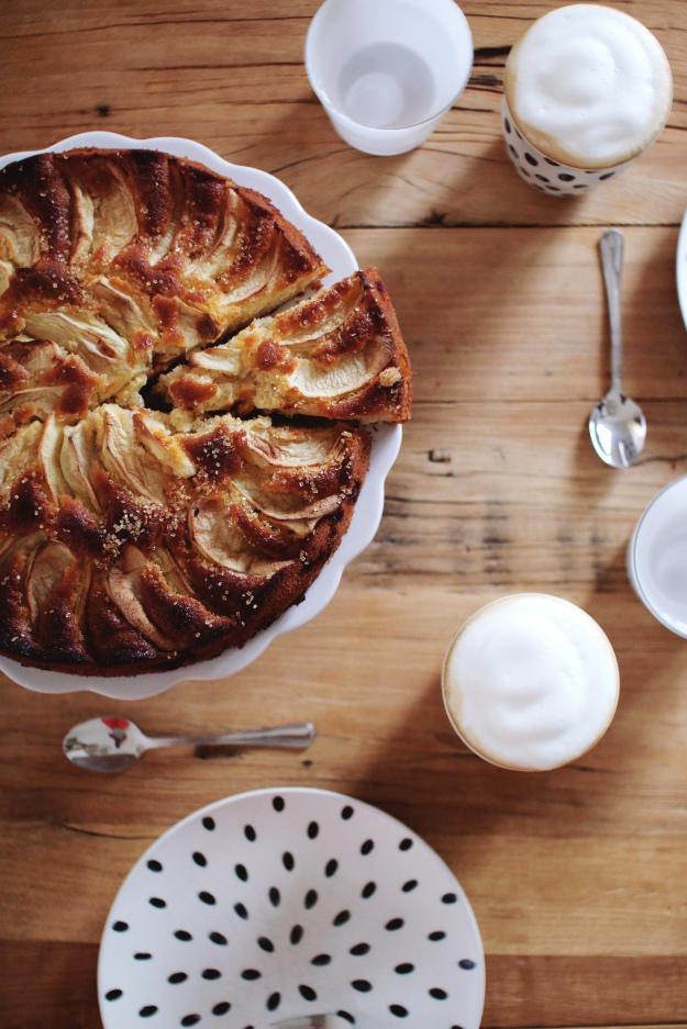 saftiger Apfelkuchen ohne Streusel