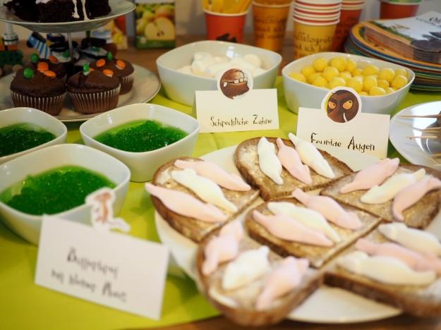 Grüffelo Geburtstag Ideen Geburtstagstisch Partybuffet