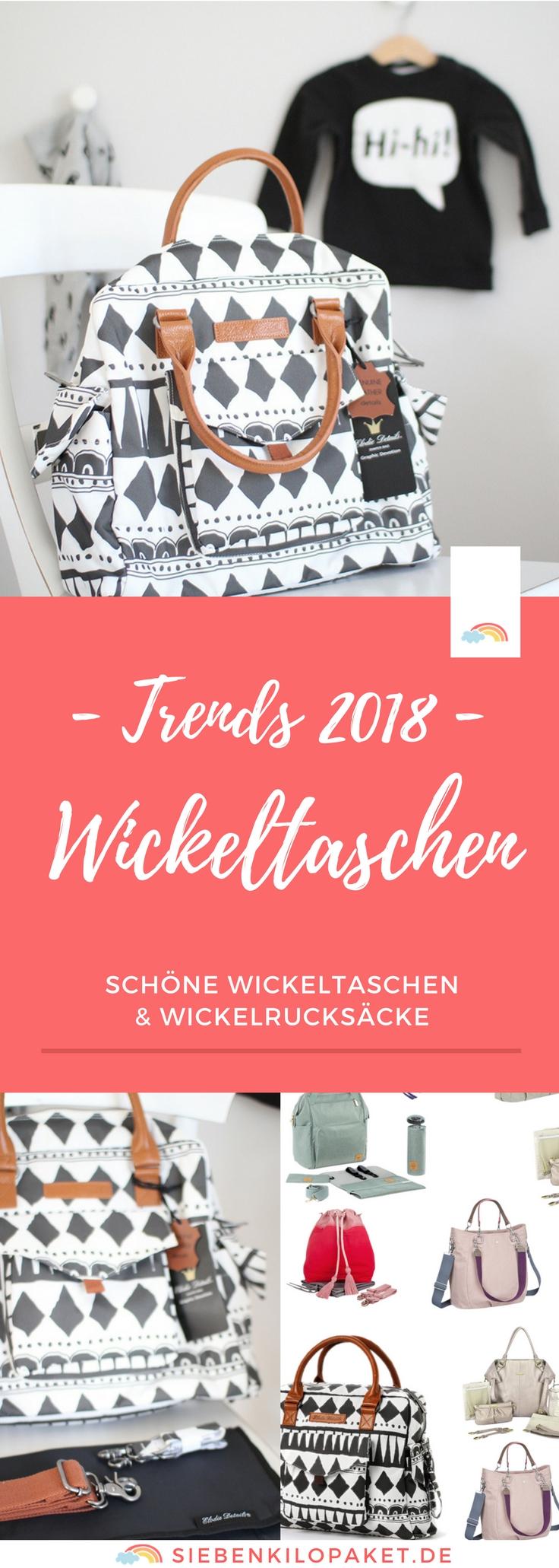 Trends 2018: schöne Wickeltaschen & Wickelrucksäcke für die stylischen Mamas - modische, ausgefallene und moderne Taschen für die Wickelzeit #wickeltasche #wickeln #kleinkind #babyausstattung #erstausstattung