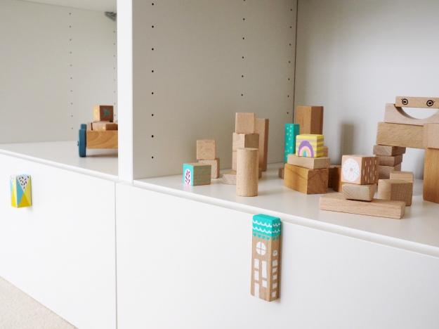 Bauklotze Anmalen DIY Idee Deko Kinderzimmer Selber Machen