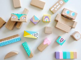 DIY Kinderzimmer Deko Idee basteln mit Kindern Bauklötze - Der Blog ...