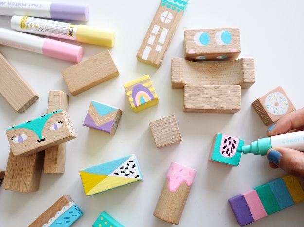 DIY Kinderzimmer Deko Selber Machen Möbelgriffe Aus Bausklötzen