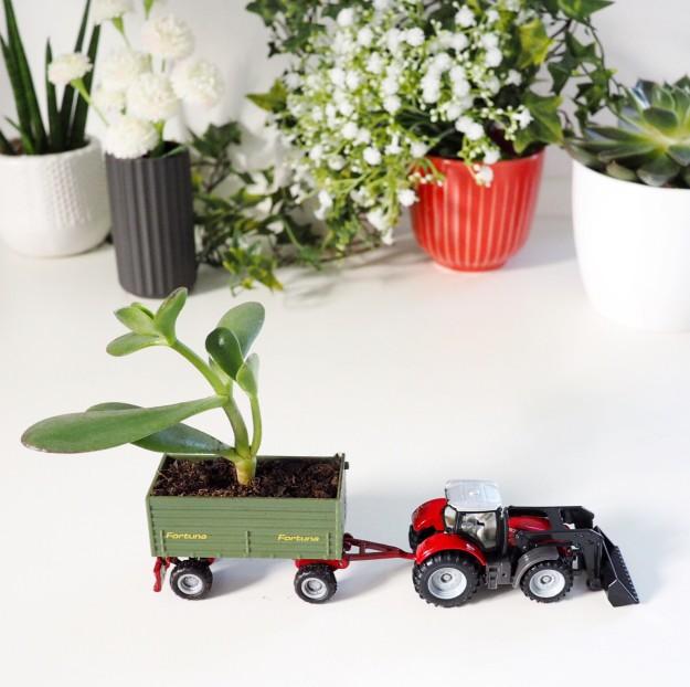 Frühling basteln mit Kindern Spielzeugauto