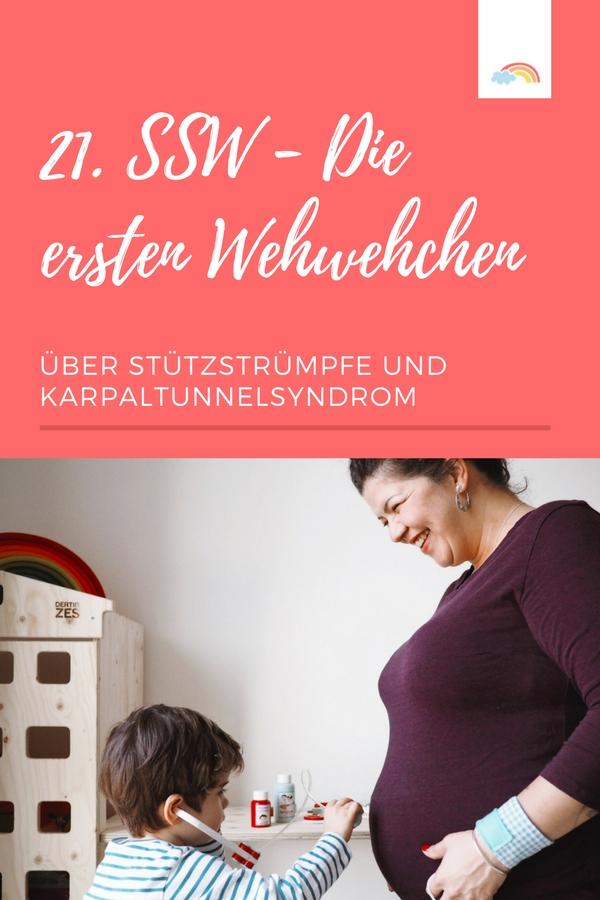 Erste Schwangerschaftsbeschwerden - ab der 21. SSW geht es los - Karpaltunnelsyndrom - Wassereinlagerung
