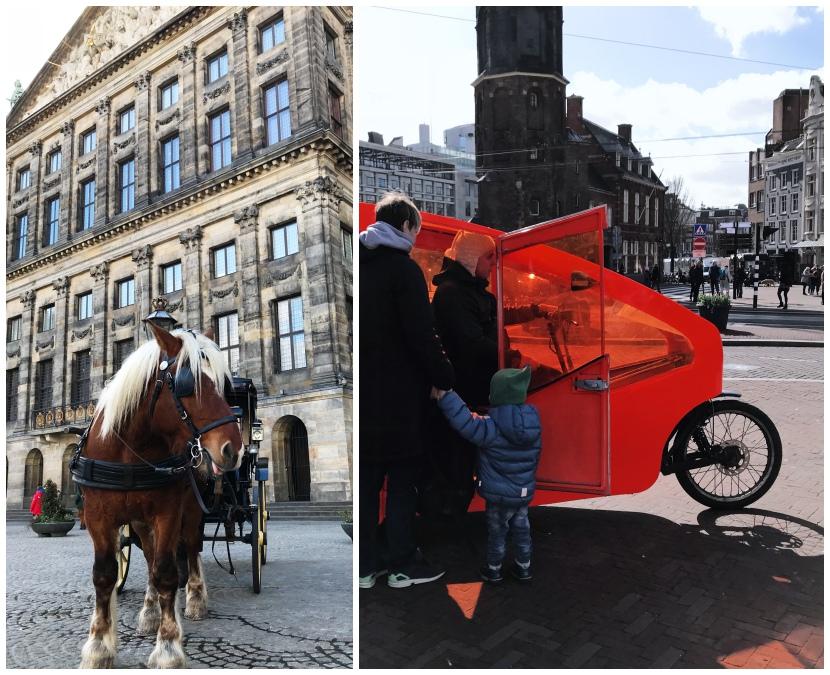 Amsterdam mit Kindern - wie man am besten von A nach B kommt - Kutsche und Rikscha fahren