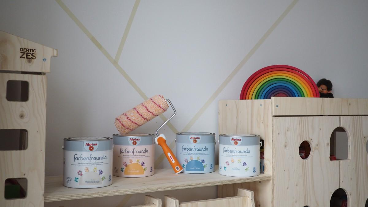 Eine kreative Ecke entsteht - Kinderzimmer streichen mit der richtigen Wandfarbe