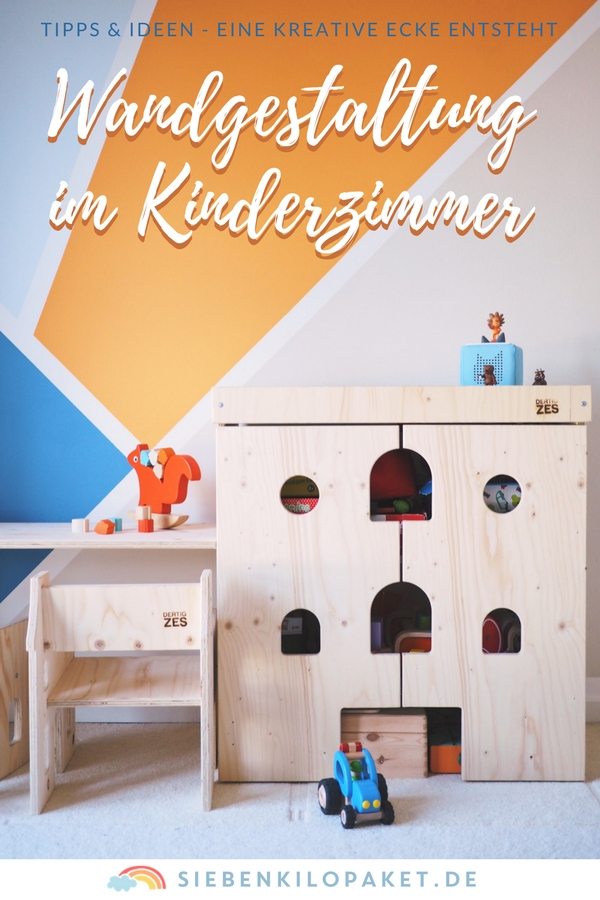 wandgestaltung im kinderzimmer eine kunterbunte. Black Bedroom Furniture Sets. Home Design Ideas