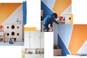 Geometrische Wandgestaltung Kinderzimmer streichen Ideen und Tipps