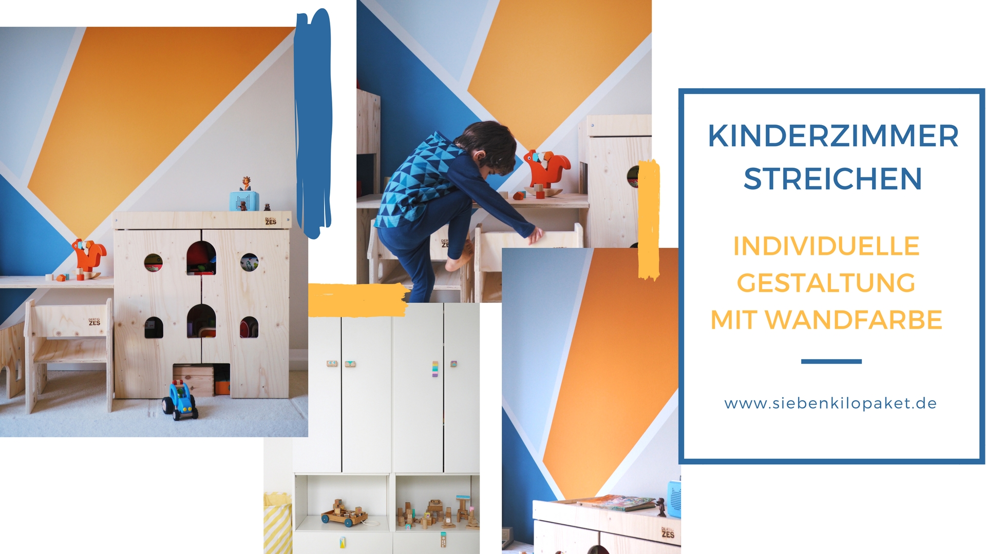 wandgestaltung im kinderzimmer eine kunterbunte kreative ecke f r den gro en jungen werbung. Black Bedroom Furniture Sets. Home Design Ideas