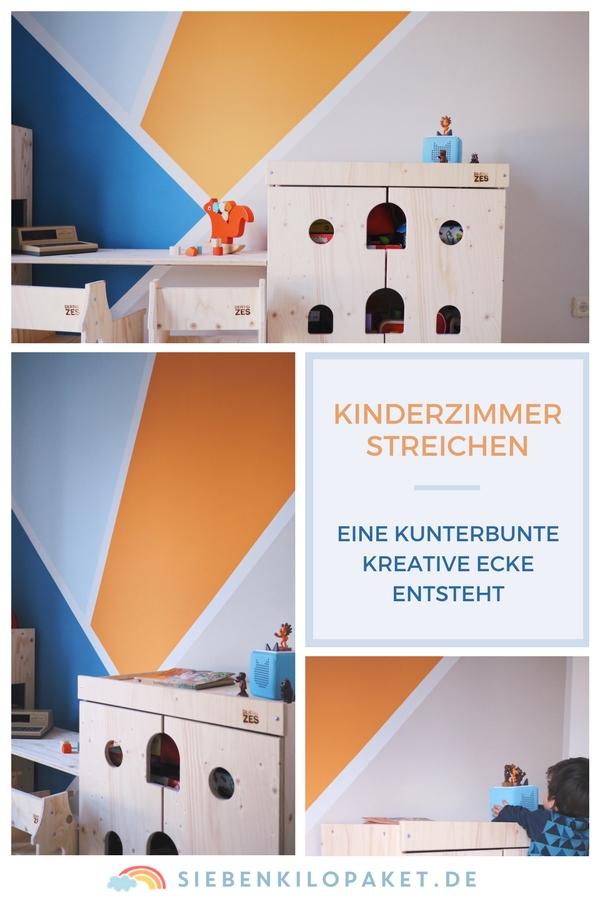 Kinderzimmer Wandgestaltung | Wandgestaltung Im Kinderzimmer Eine Kunterbunte Kreative Ecke Fur