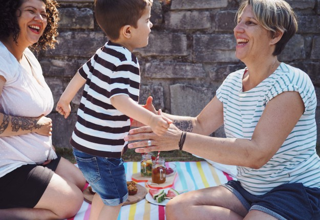 Picknick mit Kindern - Familienpicknick