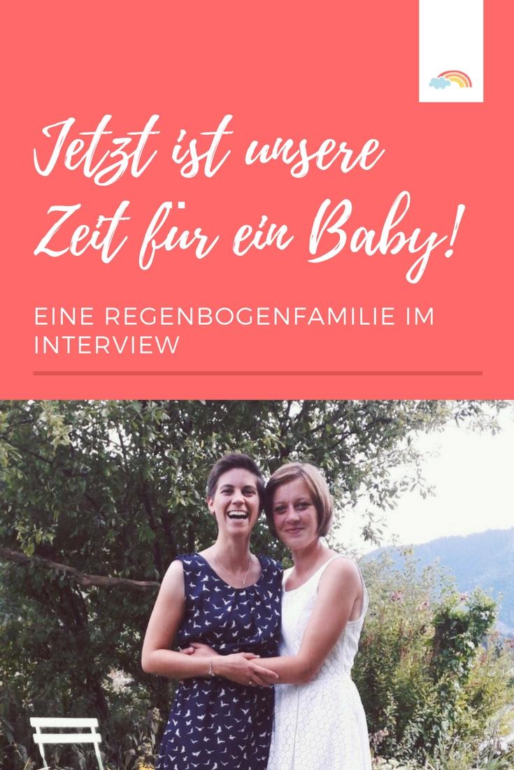 Regenbogenfamilie mit Kinderwunsch lesbische Frauen wollen ein Kind bekommen Befruchtung